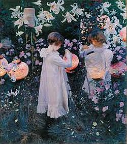 'Carnation, Lily, Lily, Rose', John Singer Sargent's most celebrated work, which is set in a garden in Broadway.