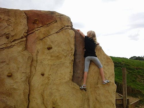 ...and here she is again, this time tackling the climbing rock.