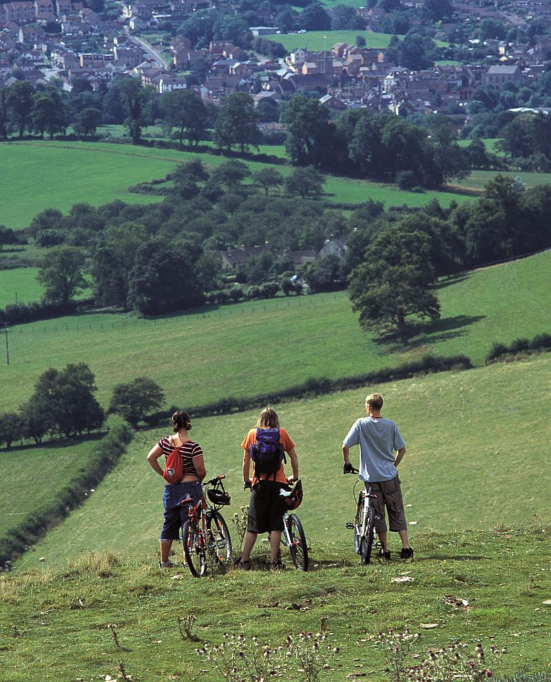 It's downhill from here: Cycling in the south Cotswolds. Picture © Cotswolds Conservation Board