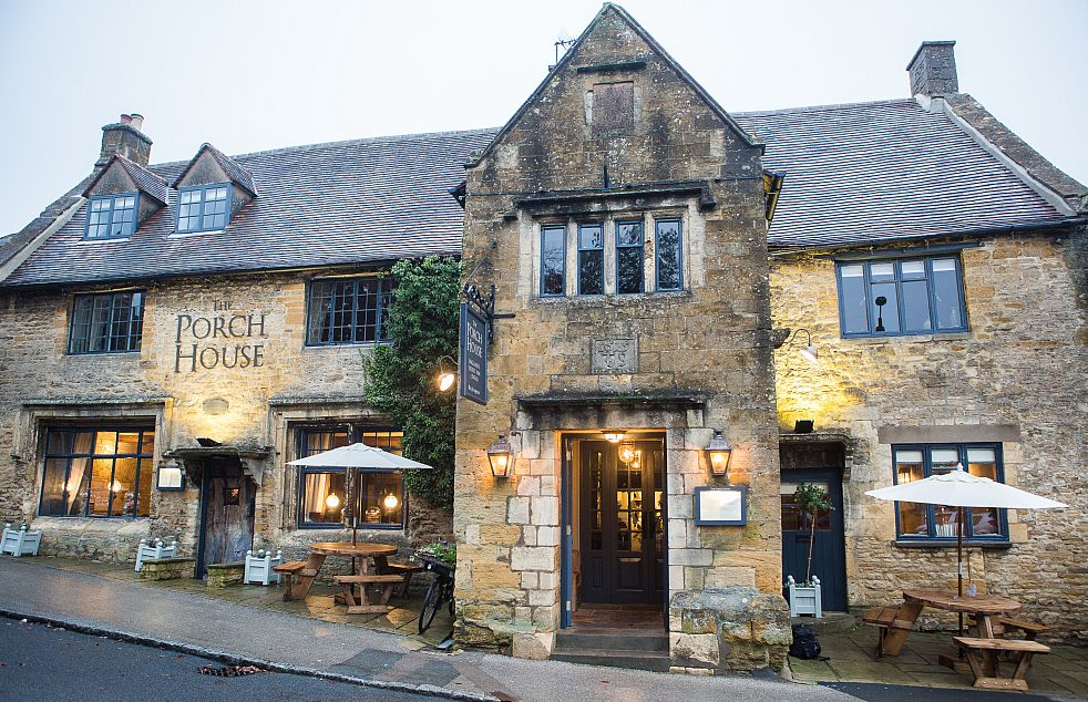 The Porch House in Stow-on-the-Wold dates back to 987AD and lays claim to be England's oldest inn.
