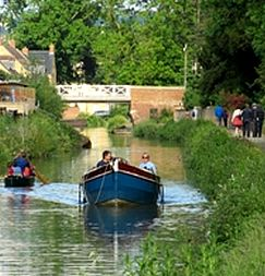 Boats on the Stroudwater Canal.