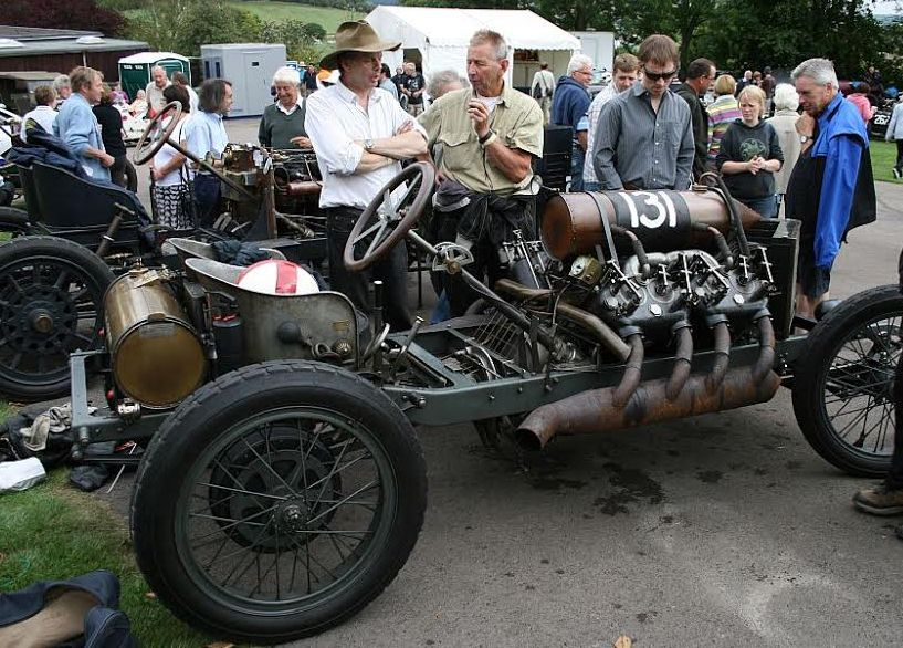 A magnificent vintage motor at Prescott gains plenty of attention.