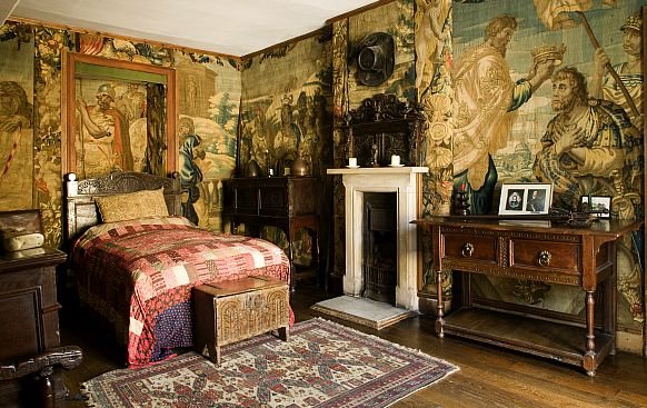 The famous tapestry-lined Ireton room at Chavenage House.