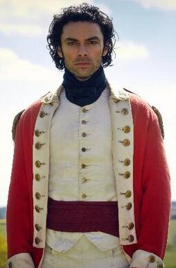 Aidan Turner during the filming of the new TV adaptation of Poldark.