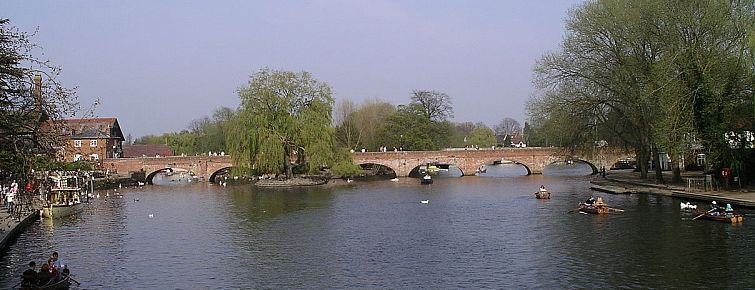 The Stratford and Moreton Tramway bridge over the River Avon at Stratford-upon-Avon.