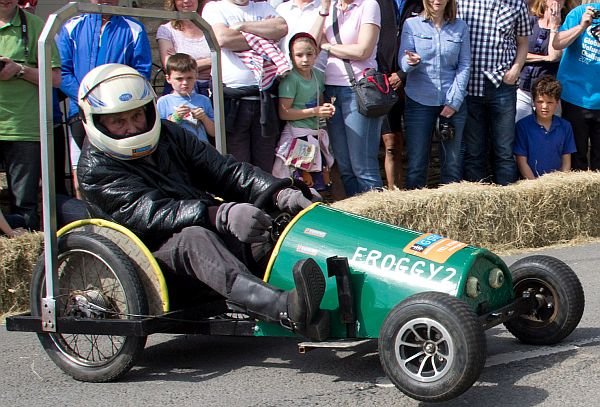 Fun at the 2014 Tetbury Wacky Races.