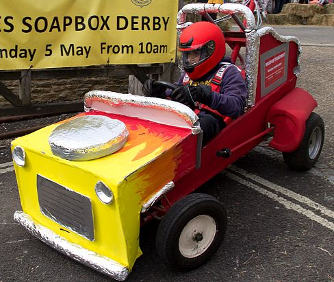 One of the wacky vehicles in the Tetbury Soapbox Derby.