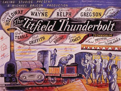 A poster advertising the 1953 Ealing comedy The Titfield Thunderbolt.
