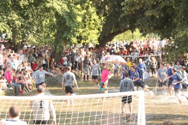 Popular events such as the annual football in the river match means Bourton-on-the-Water sometimes have more visitors than residents.