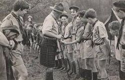 The opening of Gloucestershire's Scouting Centre at Cranham in 1947.