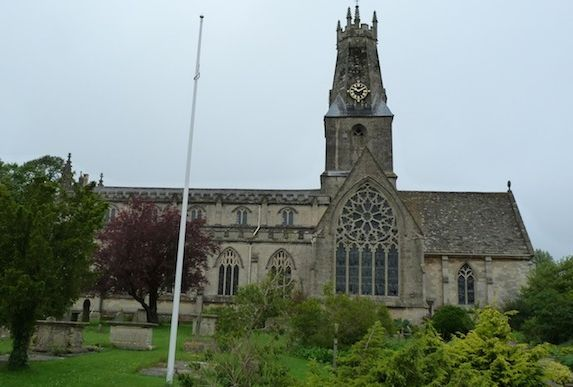 Holy Trinity Church, Minchinhampton, with its unusual spire.