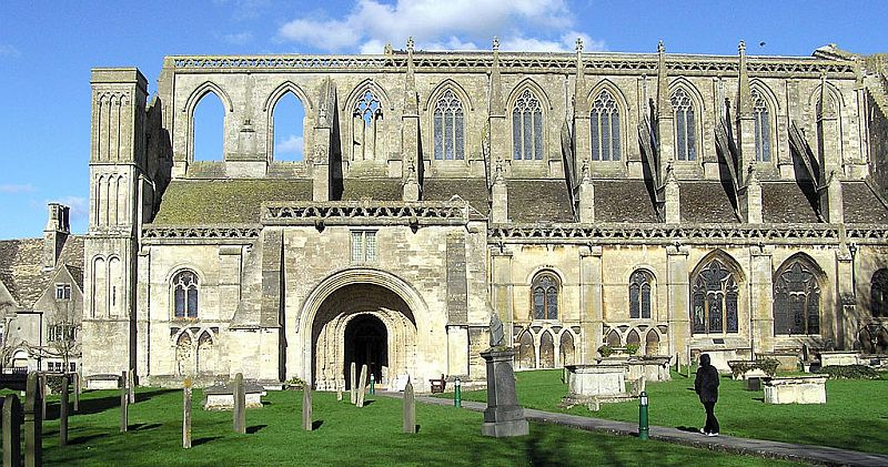 Malmesbury Abbey was riddled with pockmarks after the town changed hands a number of times during the English Civil War.