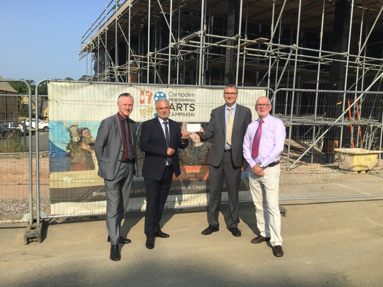 Pictured left to right: Mike Allsop and Steve Malik (who head up the West Midlands region of Duchy Homes), John Sanderson (CCS Principal) and Geoff Price (Housing Association).