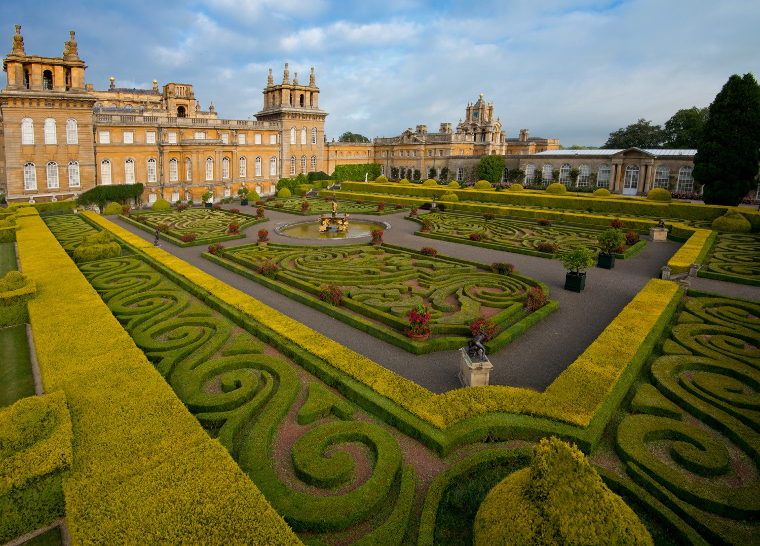 Italian Garden at Blenheim Palace.