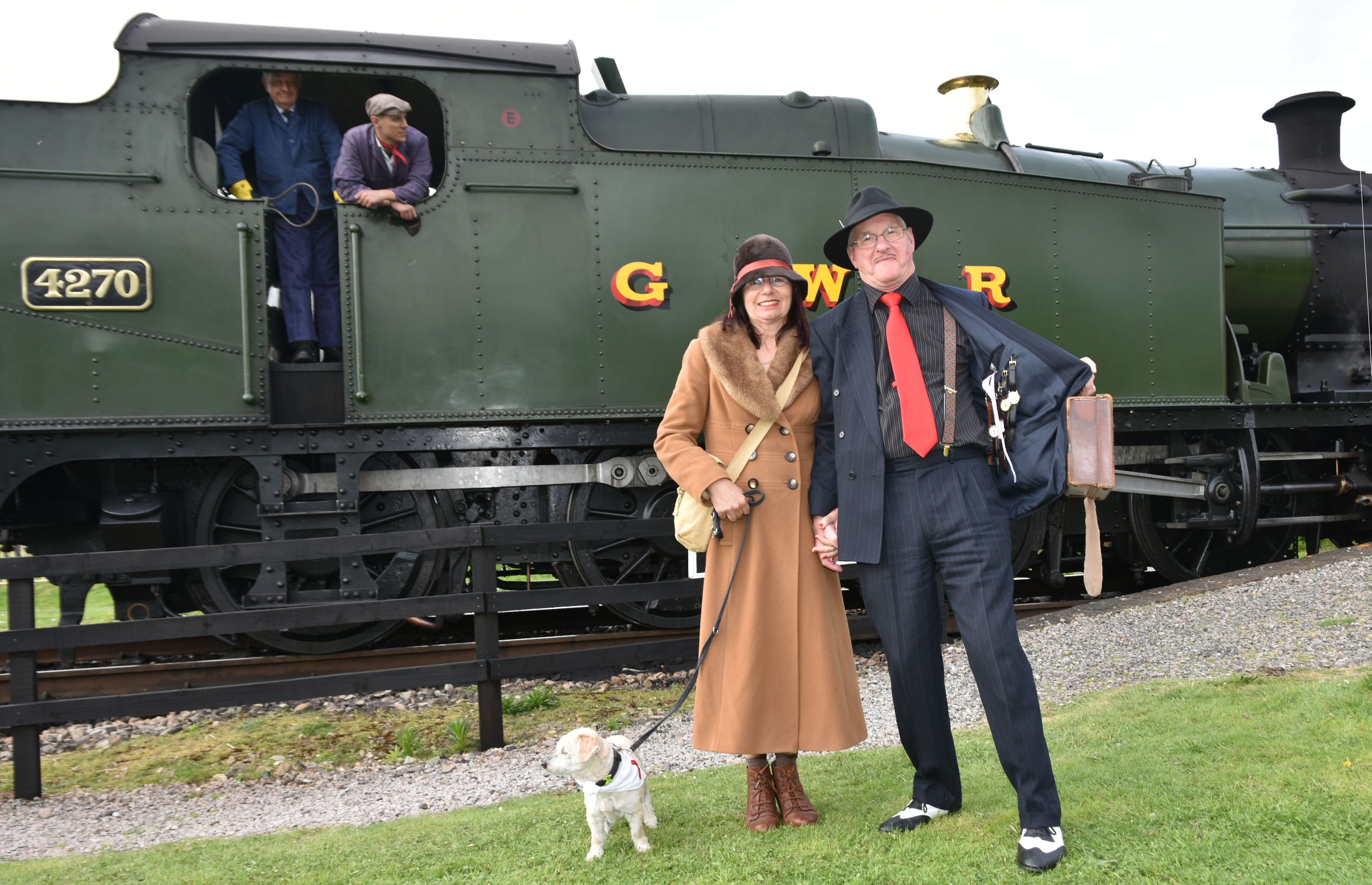 A scene from last year's Wartime in the Cotswolds event.