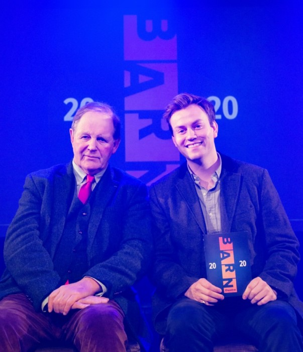 Sir Michael Morpurgo and Barn Theatre Artistic Director Iwan Lewis. Photo Credit: Paul Wright Photography