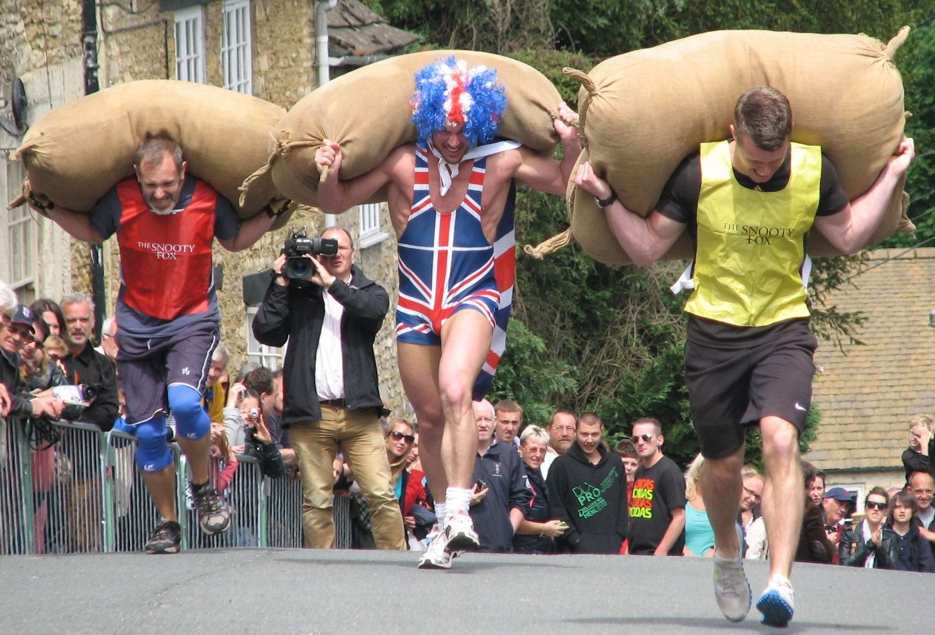 The Tetbury Woolsack Races draw hundreds of spectators to the Cotswold town each year. Pictures by Christine Gibb