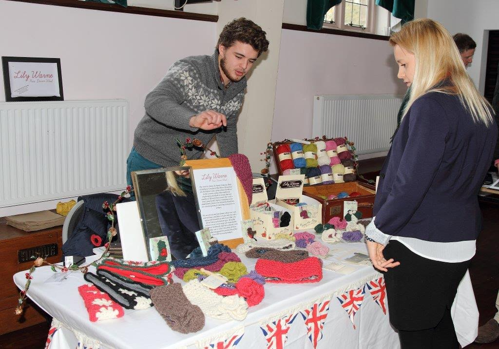 Royal Agricultural University students selling their products.
