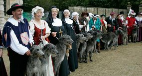 Deerhounds will help provide an historic spectacle.