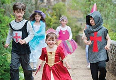Children dressed in costumes that reflect the castle's history will be admitted free of charge.
