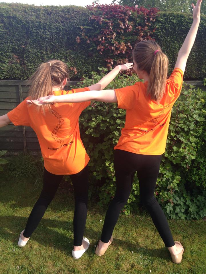 Faye and Lauren are holding a tea party on June 20 to raise money for Scoliosis UK.
