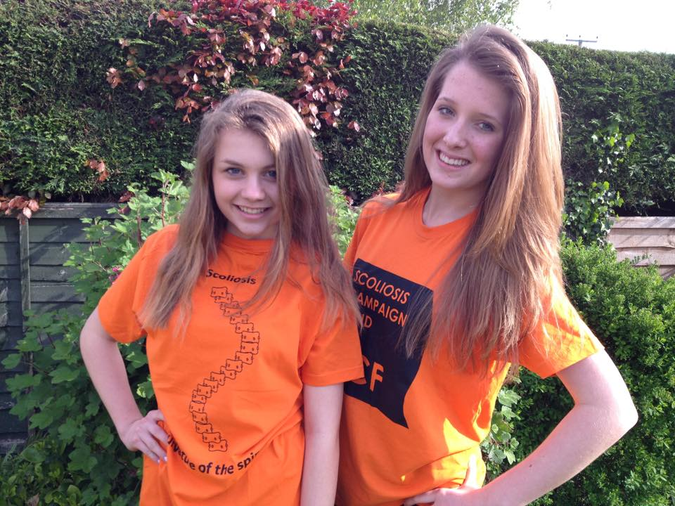 Lauren Oram, left, and Faye Stanton have both suffered from scoliosis.