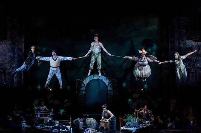 Come fly with me: Peter Pan and friends in full flight. Photo by Manuel Harlan