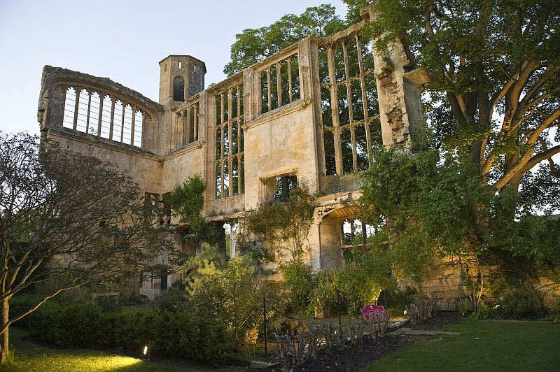 The Medieval ruins of the Banqueting Hall at Sudeley Castle & Gardens, built by Richard III.