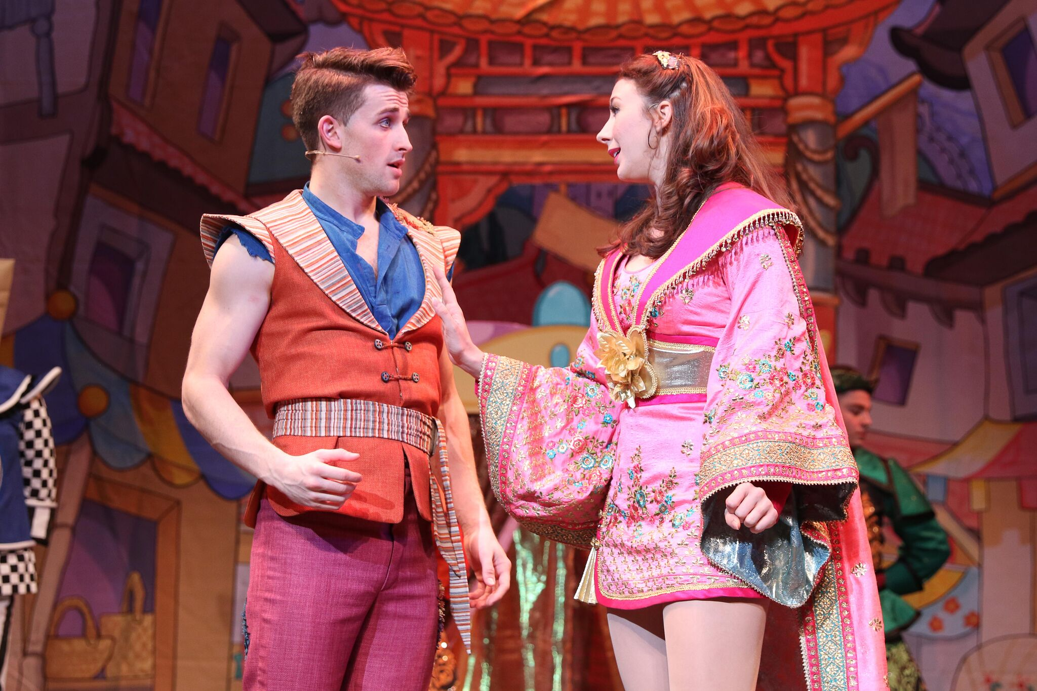 Aladdin (Ben Darcy) and Princess Xiao Xue (Grace Eccle). Picture by Antony Thompson, Thousand Word Media