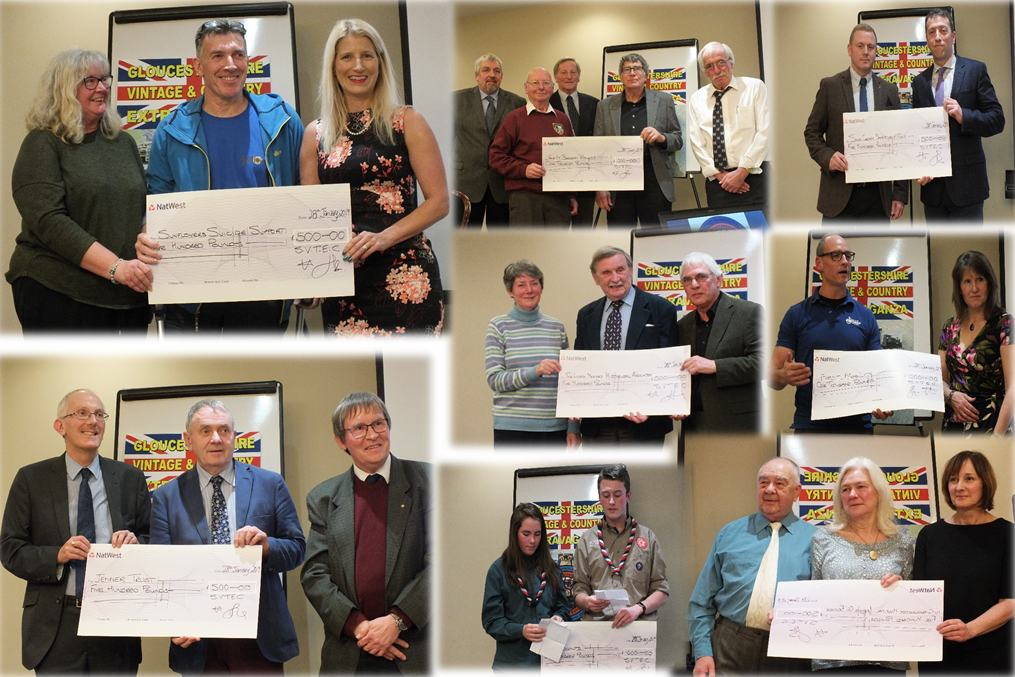 Some of the recipients of the proceeds from the Extravaganza. Pictures by Anthony Giblin.
