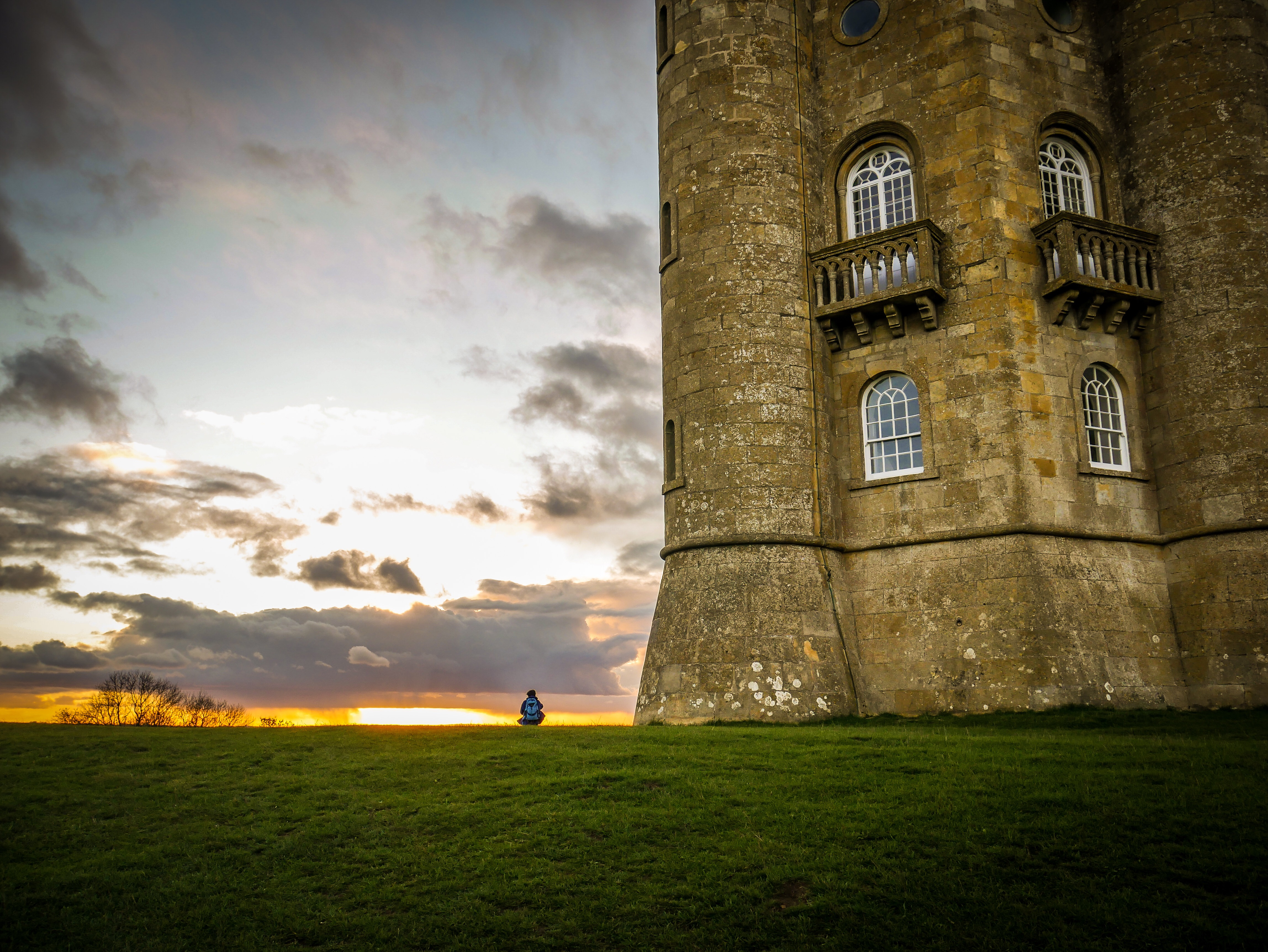 Rob Lyon's stunning photograph of Broadway Tower at sunset.
