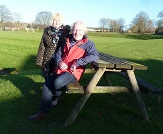 Club secretary Amanda Cooper and local councillor and committee member Phil Morgan beside the football pitches in Charlbury.