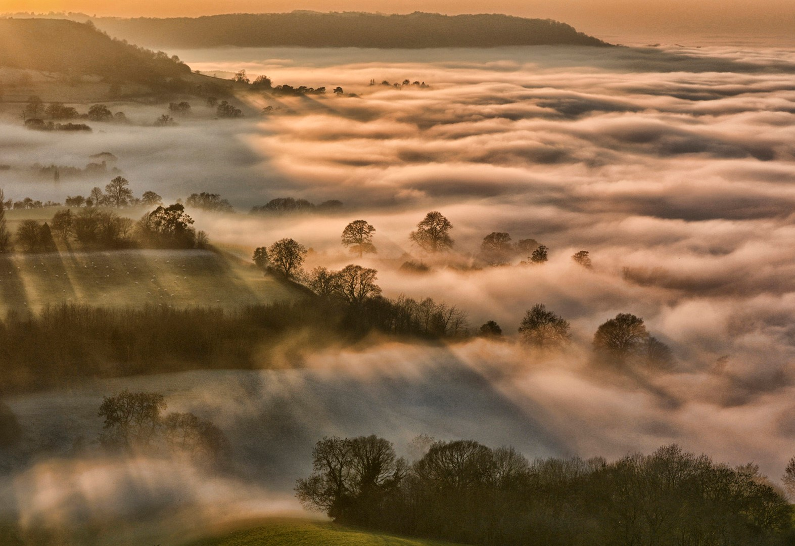 George Ryske's winning photograph `Coaley Peak over Severn Vale'.