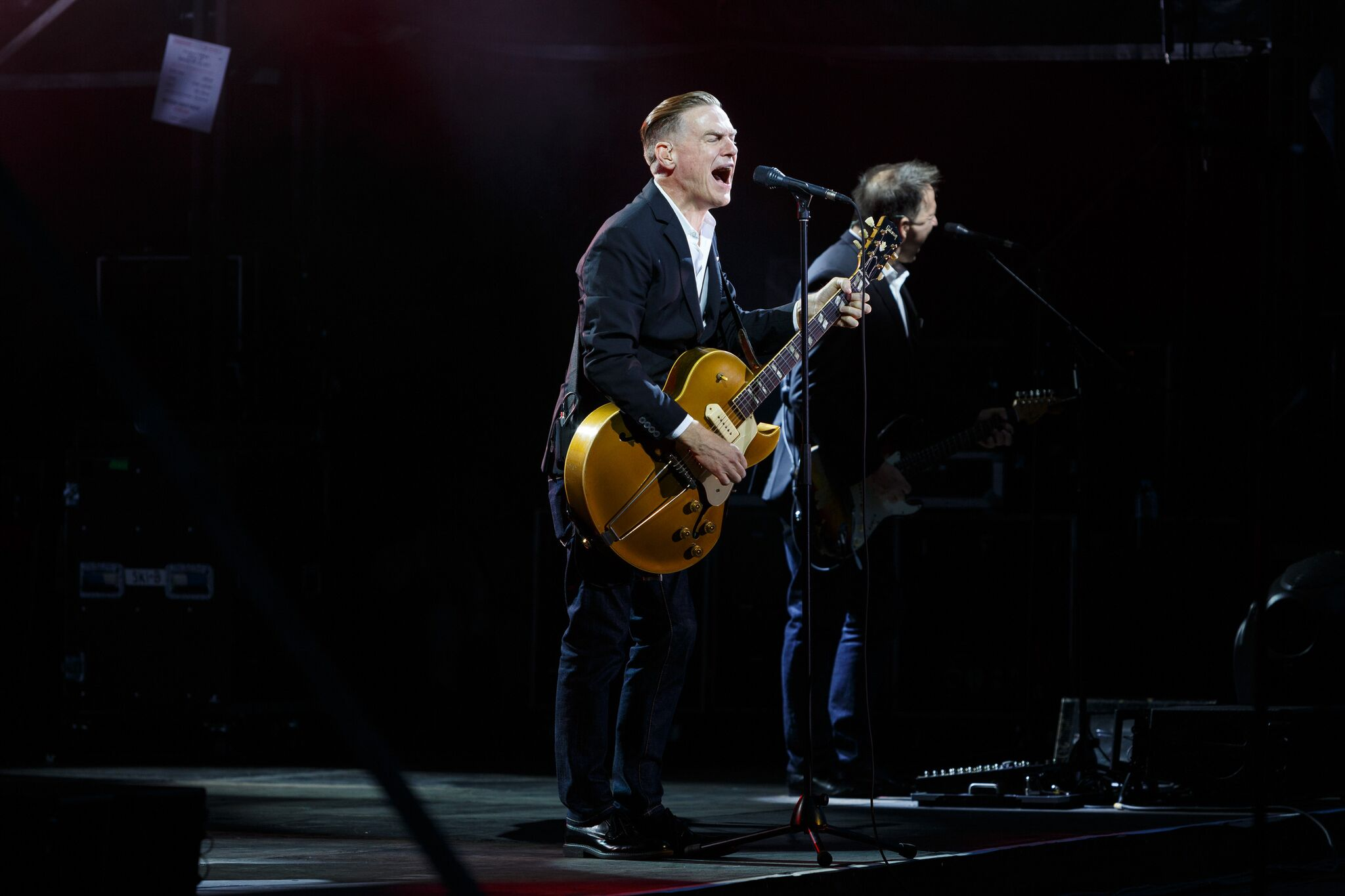 Canadian rocker Bryan Adams in full swing.