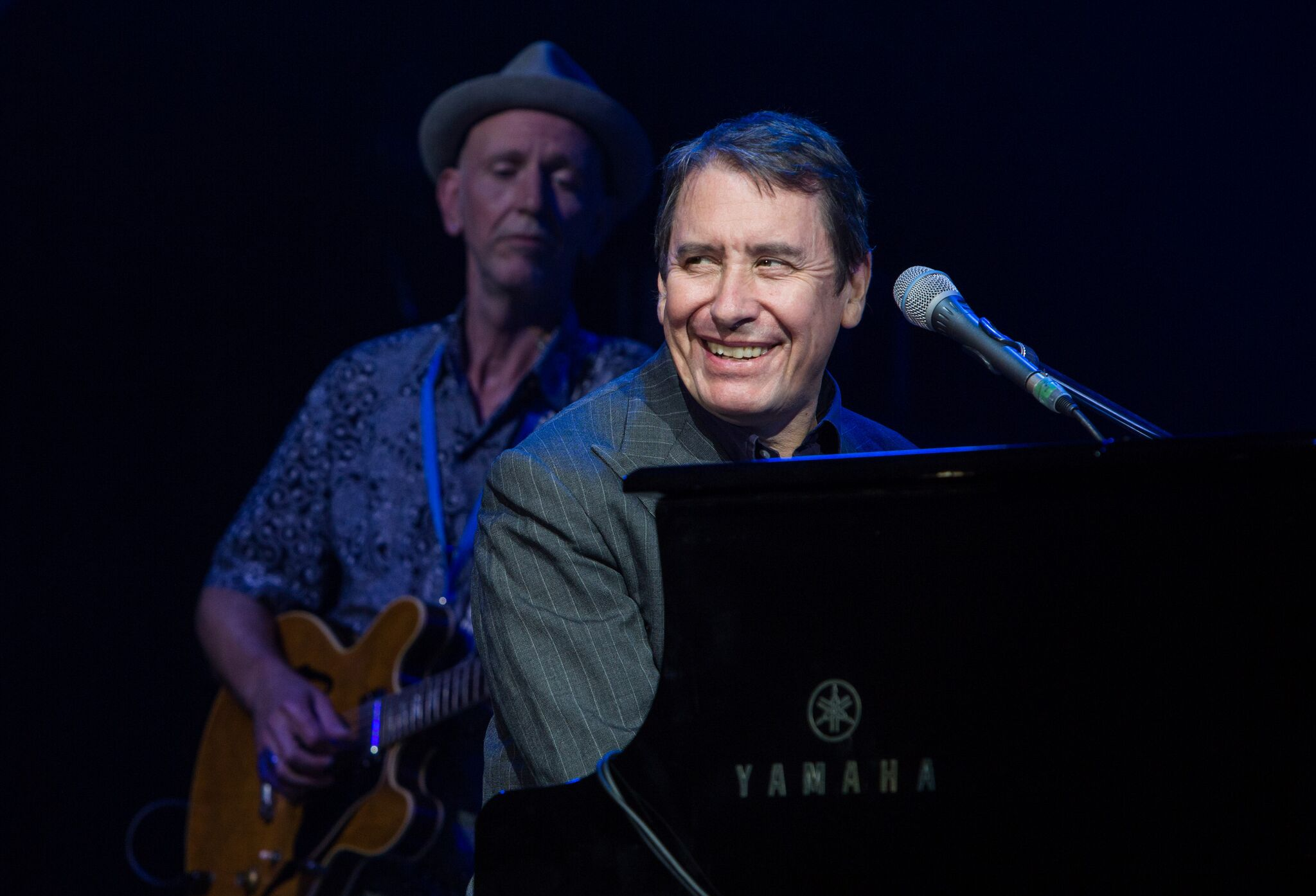 Jools Holland enjoying Cornbury's final night.