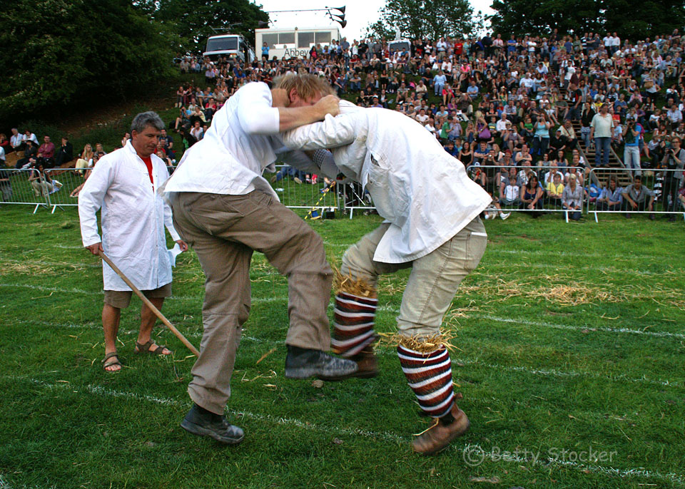 Shin kicking at the Cotswold Olimpicks. Picture by Betty Stocker.