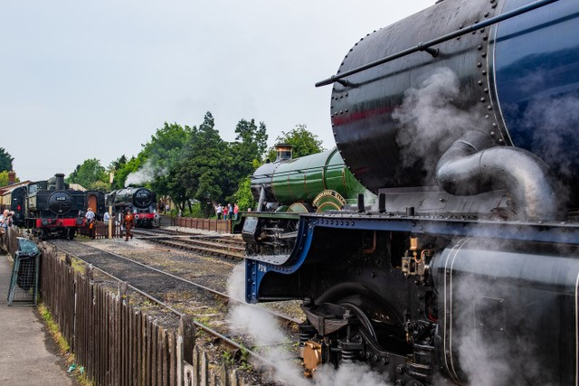 Locomotives gather for the Cotswold Festival of Steam. Picture by Jack Boskett.