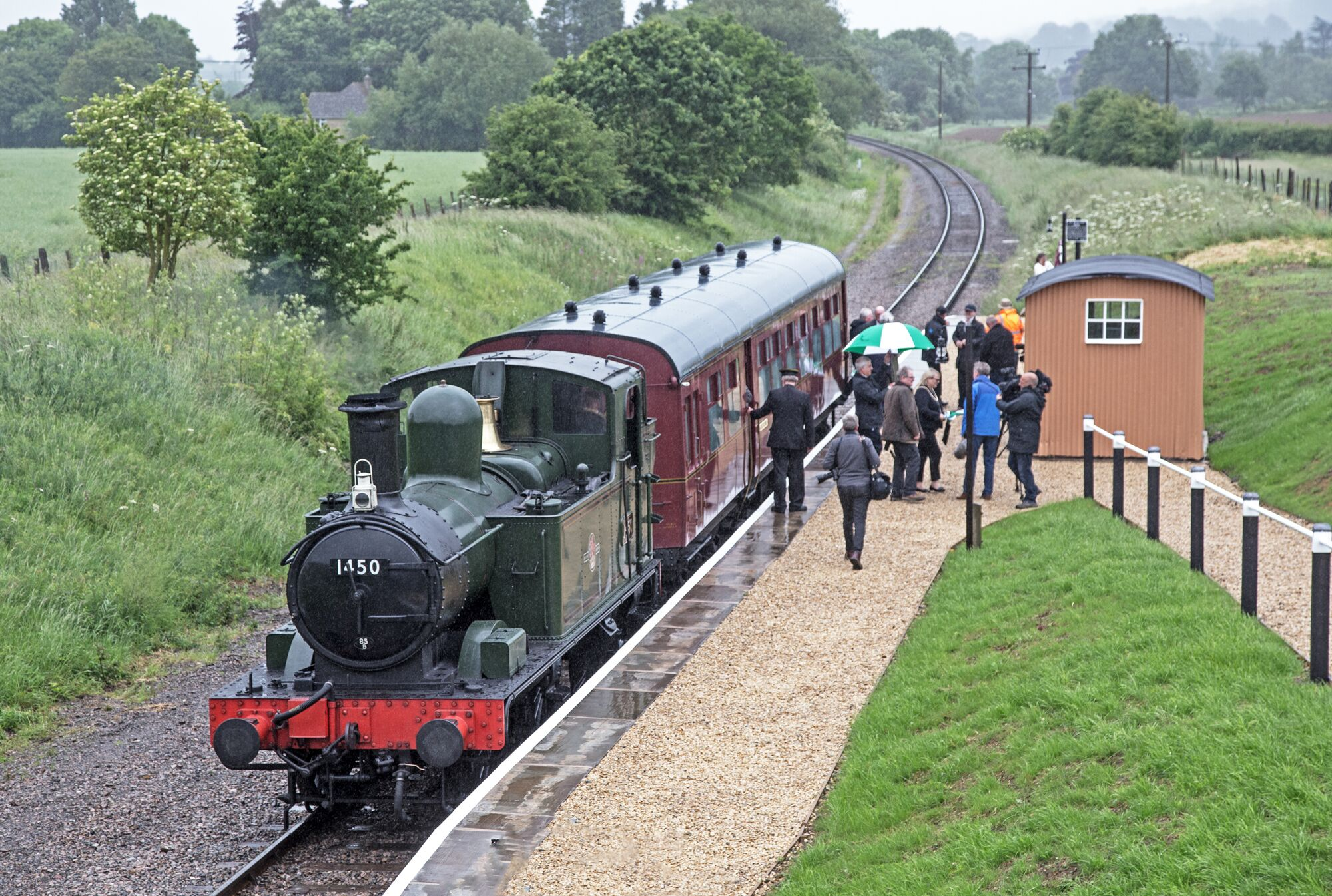 The 'Coffee Pot' stops at Hayles Abbey Halt. Picture by Malcolm Ranieri.
