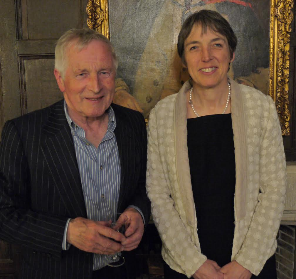Jonathan Dimbleby with RAU Vice Chancellor Professor Jo Price.