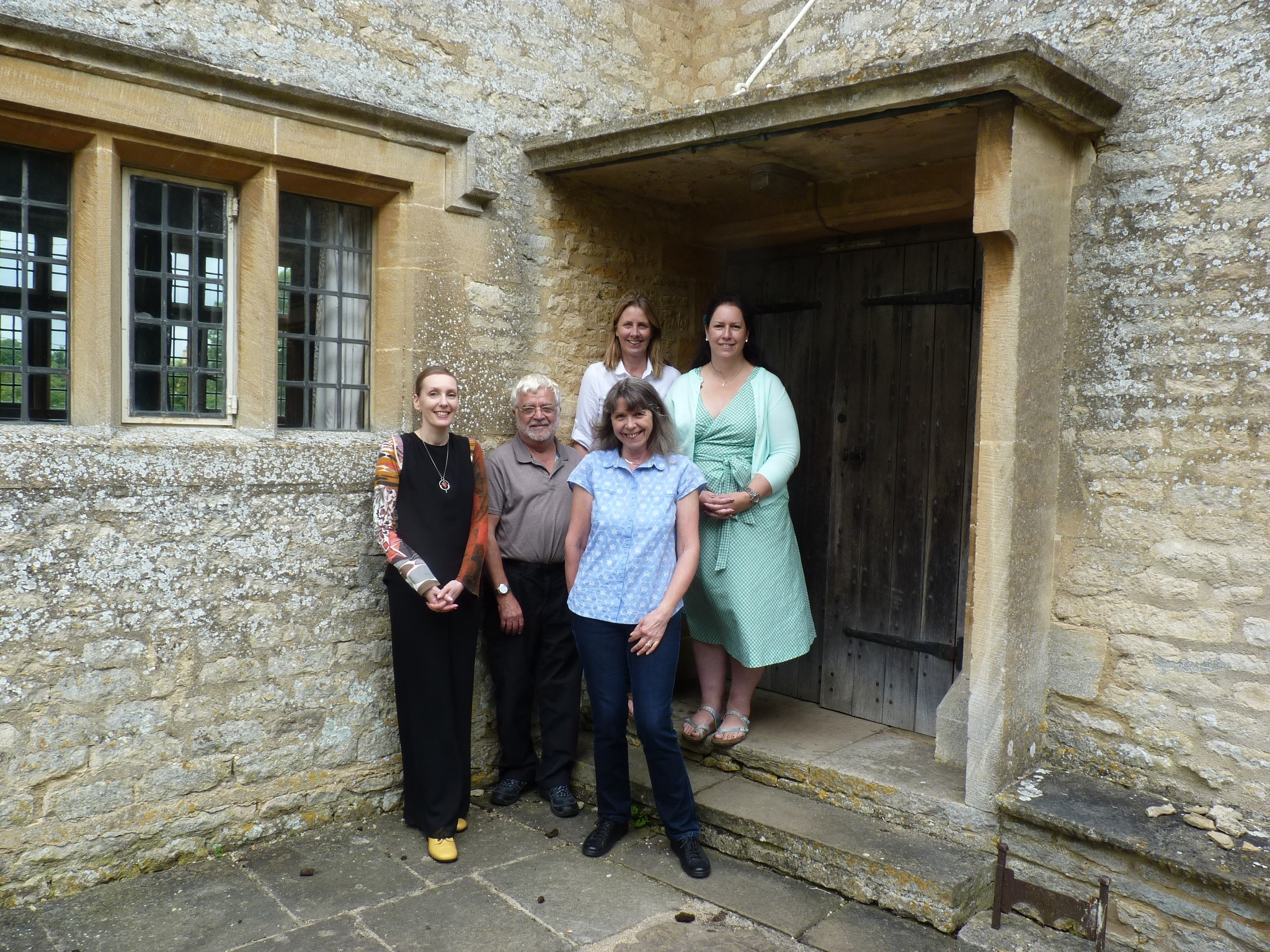Front: L-R: Kathy Haslam, Jake Nelson and Laura Roberts. Rear: Anne Stephens (L) and Sarah Richards.