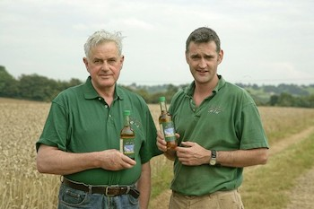 Father and son Hamish and Robert Campbell at their Cotswold farm.