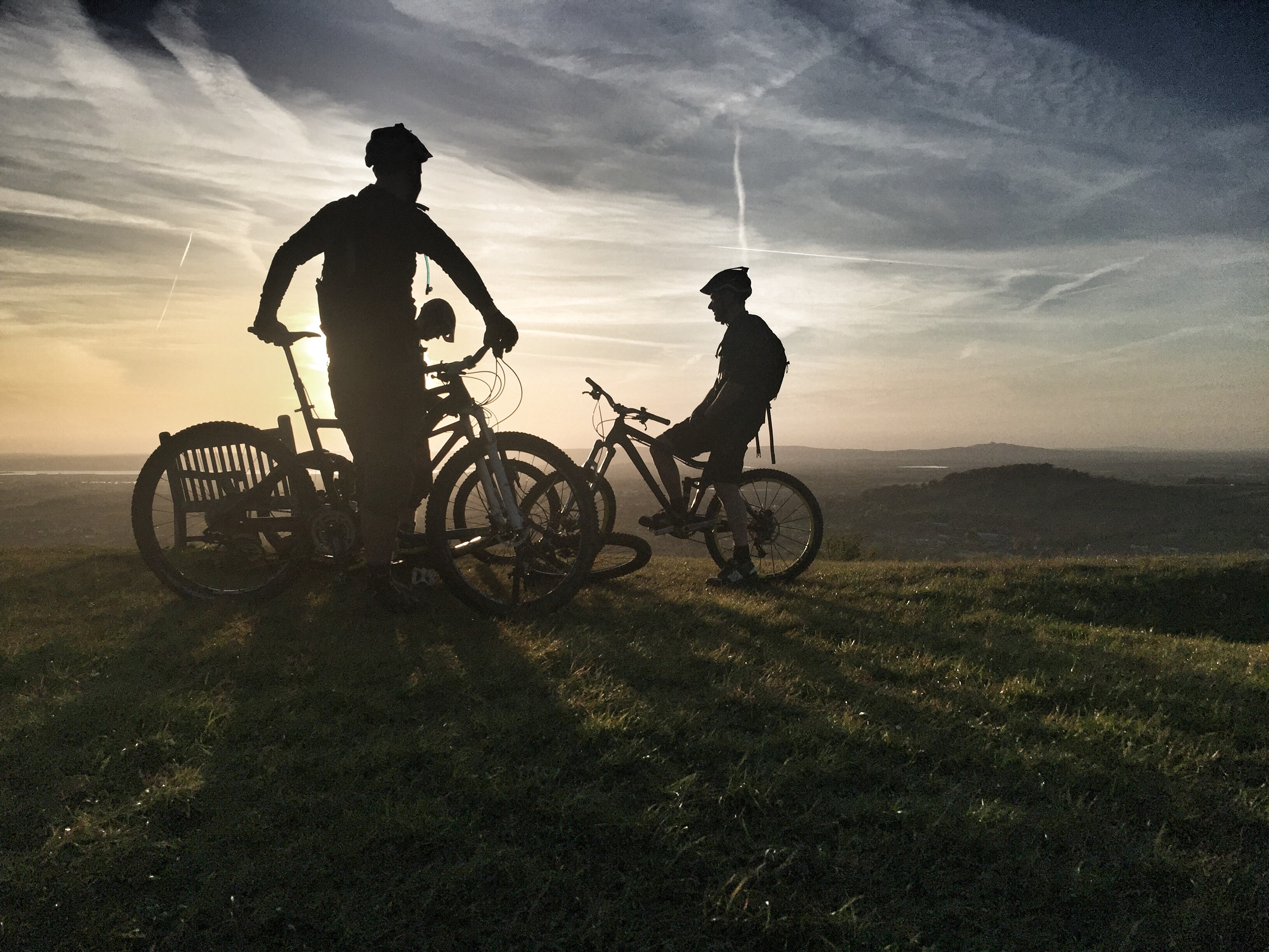 Runner-up John Pettitt's picture 'Cyclists at the top of Selsley Common'.