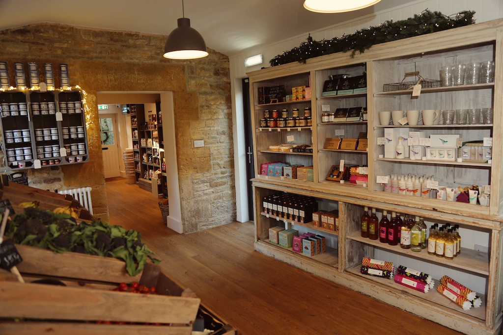 Inside Temple Guiting Shop.