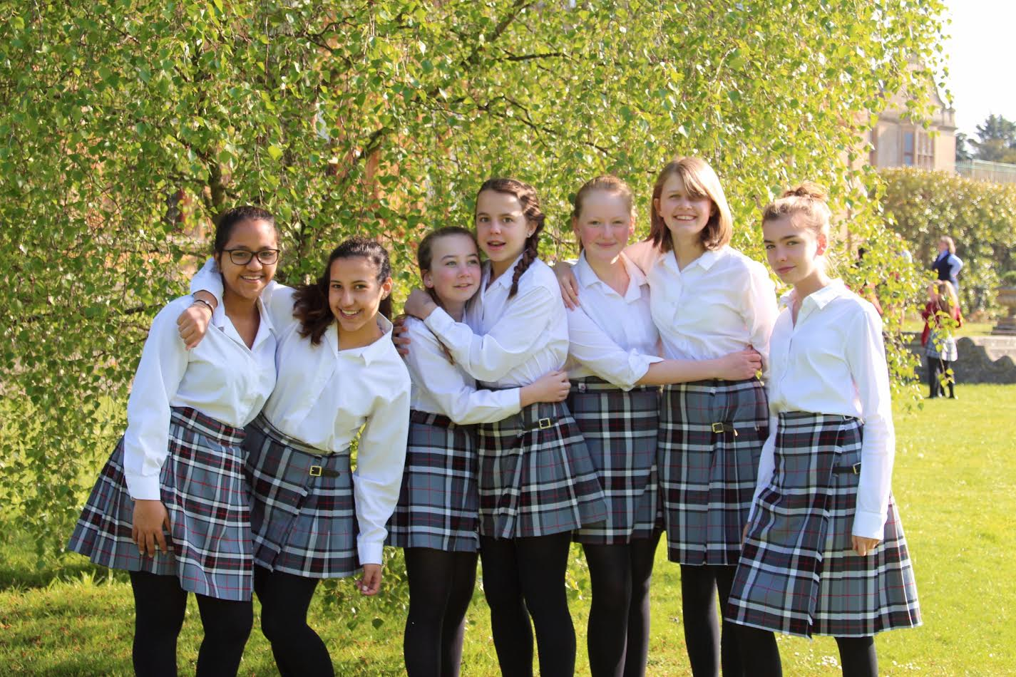 Girls at Westonbirt School are being surrounded by pictures of inspirational women this week.