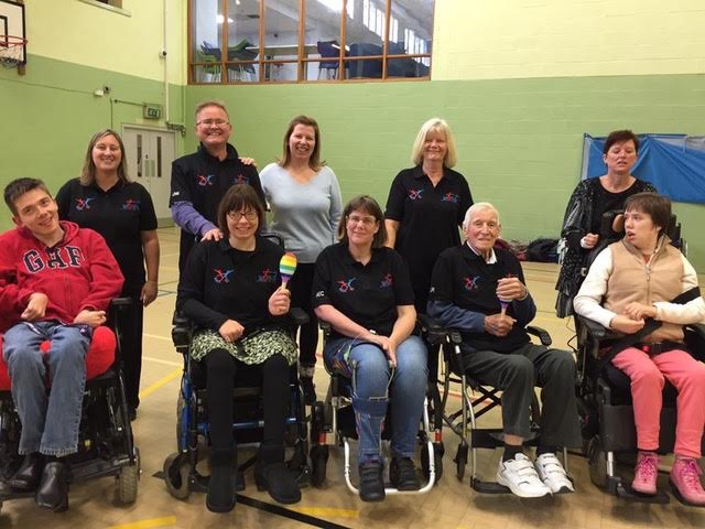 Some of the wheelchair dancers taking part in the new class.